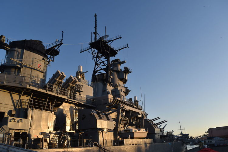 Architecture Battleship Battleship Iowa Building Exterior Built Structure City Los Angeles Waterfront Los Ángeles Night No People Outdoors San Pedro Sky