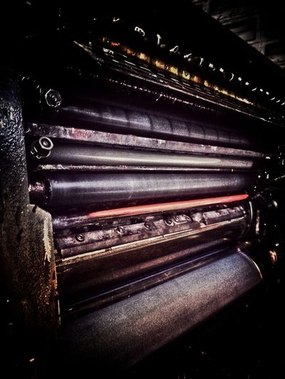 Printing Press Roller Coil LINE Brown Brown In Door In The Building Light And Shadow Inside The Factory Blackground Old Blck And White Black Color Machine Arts Culture And Entertainment Indoors  No People Close-up