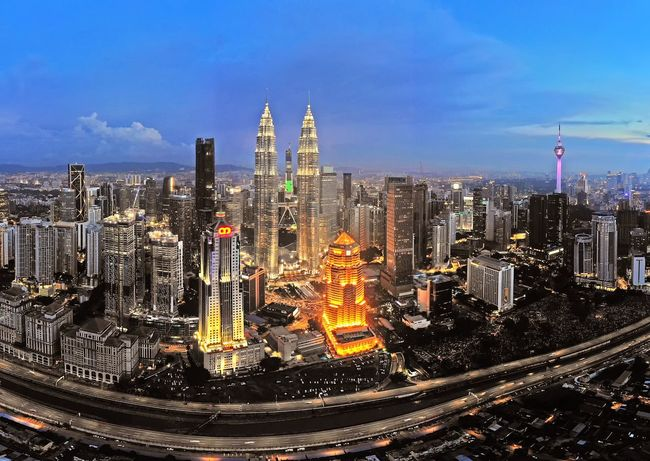 Kuala Lumpur city Klcc Petronas Twin Towers Aerial Shot Aerial Photography Dronephotography Travel Destinations Sunset Landscape Beautiful View Sky Getty Images EyeEm Best Shots EyeEm Selects City Cityscape Urban Skyline Skyscraper Illuminated Modern Aerial View Water City Life Business Finance And Industry Office Building Skyline Infrastructure Financial District  Downtown District Tower Urban Sprawl