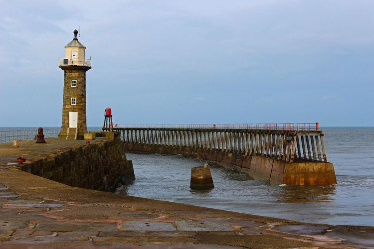 Architecture Beach Beauty In Nature Building Exterior Built Structure Day Horizon Over Water Lighthouse Nature No People Outdoors Protection Scenics Sea Sky Water Whitby Whitby Abbey Whitby Harbour Whitby Pier Whitby View