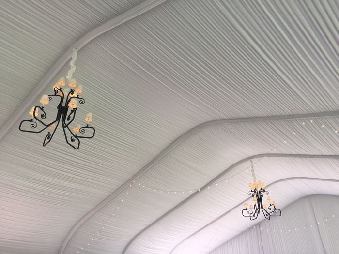 Fabric Indoors  Wedding String Of Lights Hanging Lights Ceiling Chandelier Pattern White Color Tent Indoors