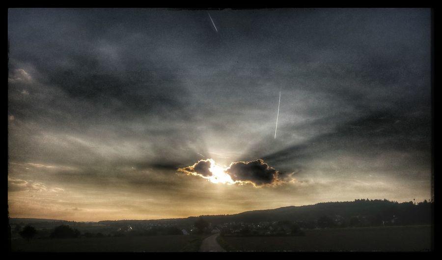 Again on my way home :-) Taking Photos Clouds Sun Sky