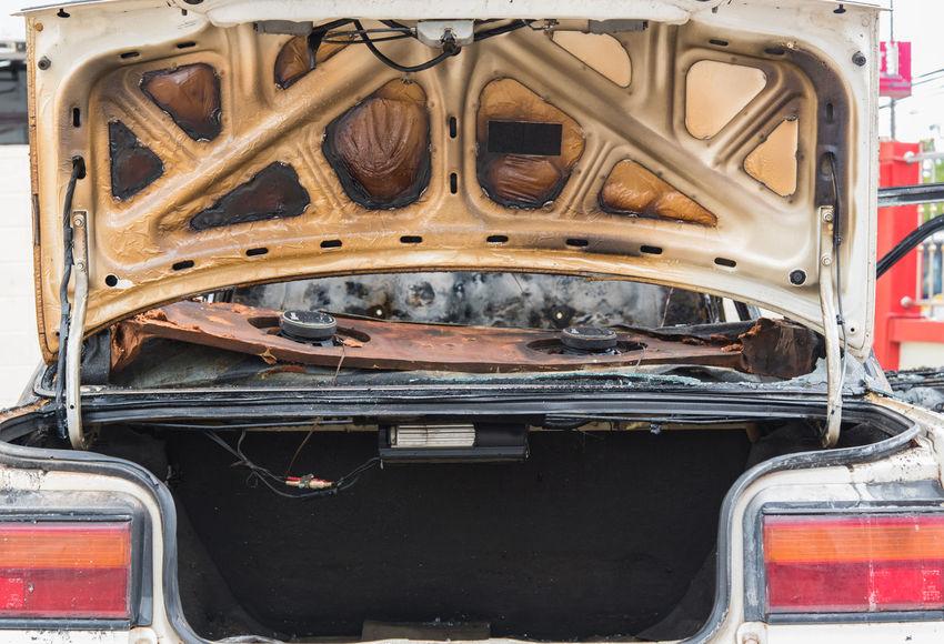 Accident Ammunition Burn Burned Car Car Car Burn Car Burning Fire Hot Transportation
