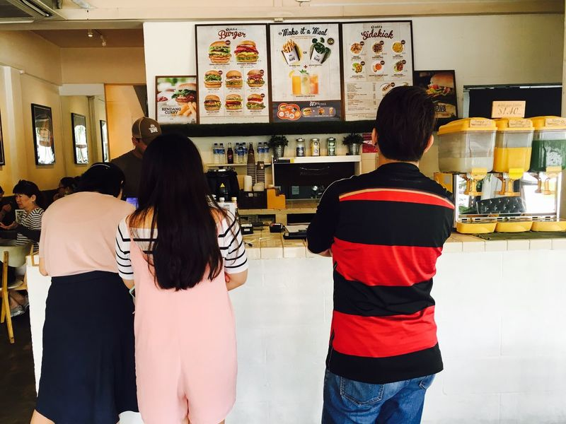 Ordering Customer  Buying Counter Order Menu Fast Food Veganburger Eunos