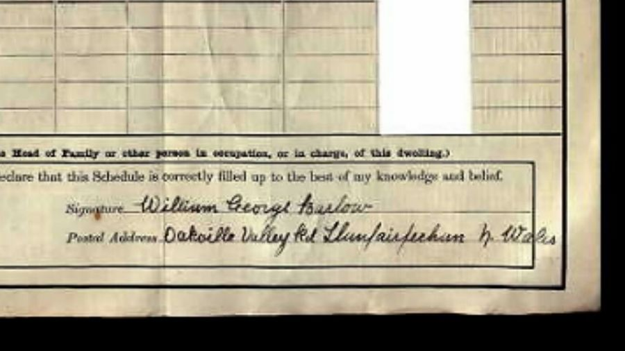 William George Barlow 1911 Census