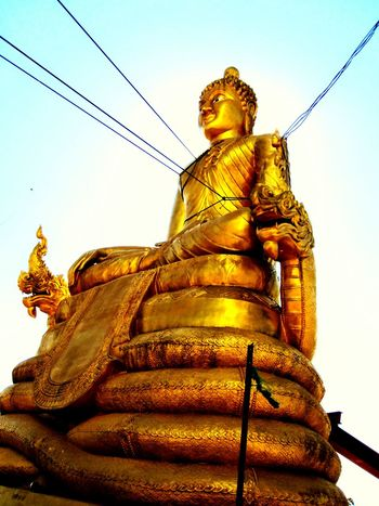 Smaller statue of Buddha, Phuket, Thailand. On The Hill Made By Me Phuket,Thailand Travel Photography Love❤ Popular Photos Photooftheday From My Point Of View Capturing The Moment For The Love Of Details Amazing Thailand Buddha Buddha Statue Buddhism Buddha Image Buddhist Symbolic Golden Statue Graceful Silouette & Sky Sunshine Golden Moment Fantastic View Thai Statue This Is Thailand Tropical Paradise