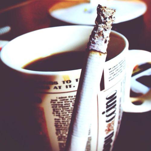Smoking Coffee Like