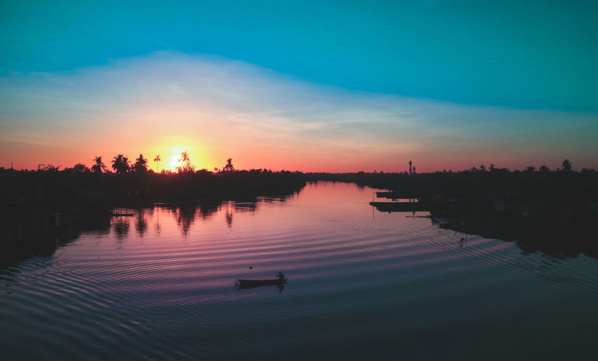 The River City, Banjarmasin, Indonesia Beauty In Nature Day Lake Nature Nautical Vessel No People Outdoors Reflection Scenics Silhouette Sky Sunset Tranquil Scene Tranquility Tree Water