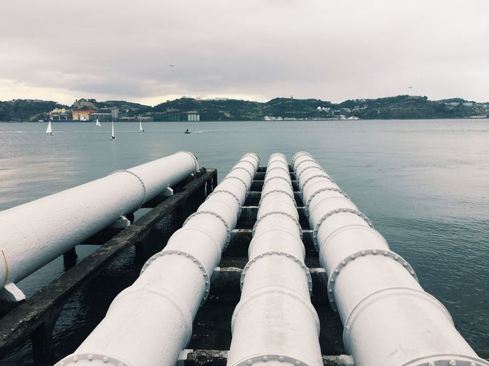 Pipes By Lake