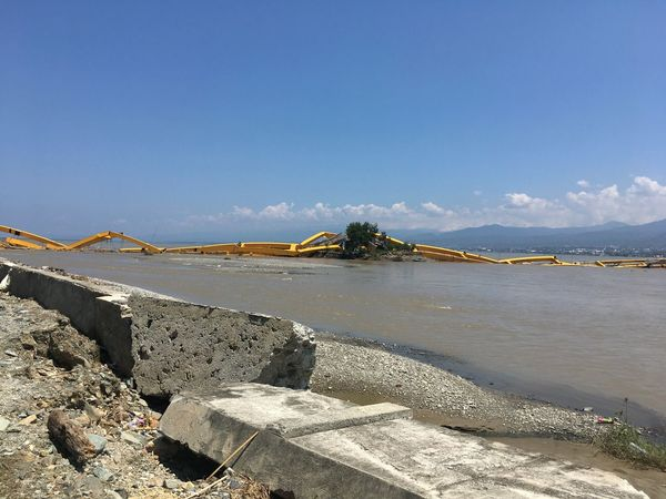 Palu aftermath Sky Water Beach Nature Sunlight Sea Land Built Structure Beauty In Nature No People Sand Tranquility Bridge Bridge - Man Made Structure Architecture Scenics - Nature Connection