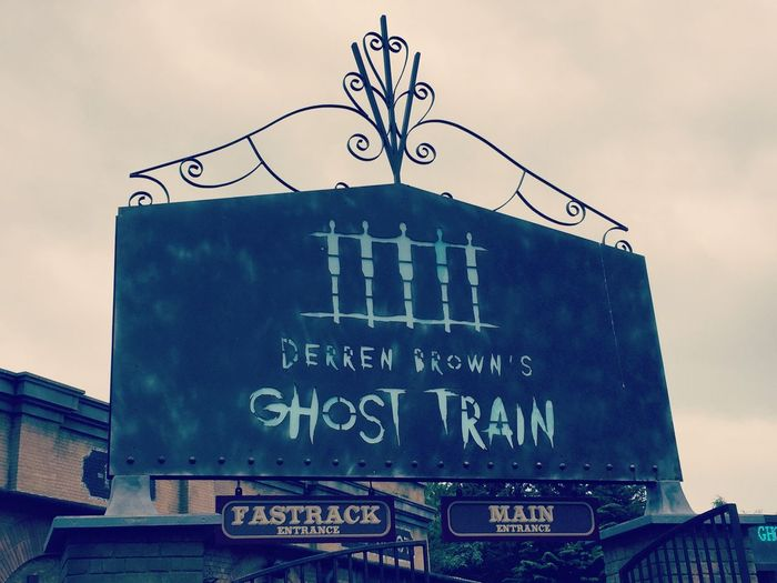 Derren Brown's Ghost Train at Thorpe Park😱 Derrenbrown Ghost Train Derail Your Mind End Of The Line Thorpe Park #Mind The Gap