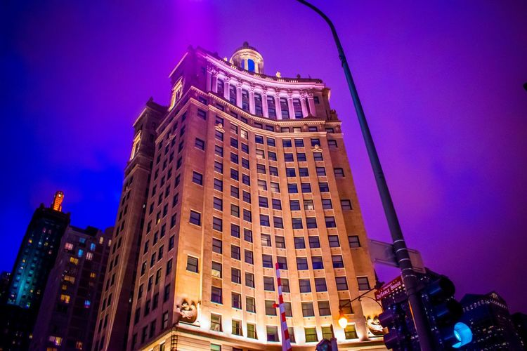 Architecture Low Angle View Illuminated Night Building Exterior Built StructureEyeEmNewHere Skyscraper City Travel Destinations Sky Outdoors Modern No People