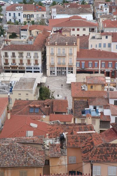 Building Exterior Architecture Built Structure High Angle View Roof City Residential Building House Day No People Outdoors Cityscape Raw Photography Canon50D Nafplion
