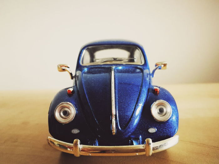 Wolkswagen  Beatle Blue Blue Car Toy Mini Car Model Car Still Life Still Life Photography Old-fashioned Retro Styled Studio Shot Single Object Close-up Vintage Retro Vintage Car Collector's Car My Best Photo Toy Car