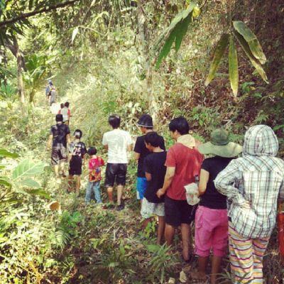 hiking at my grandma village Instamudik