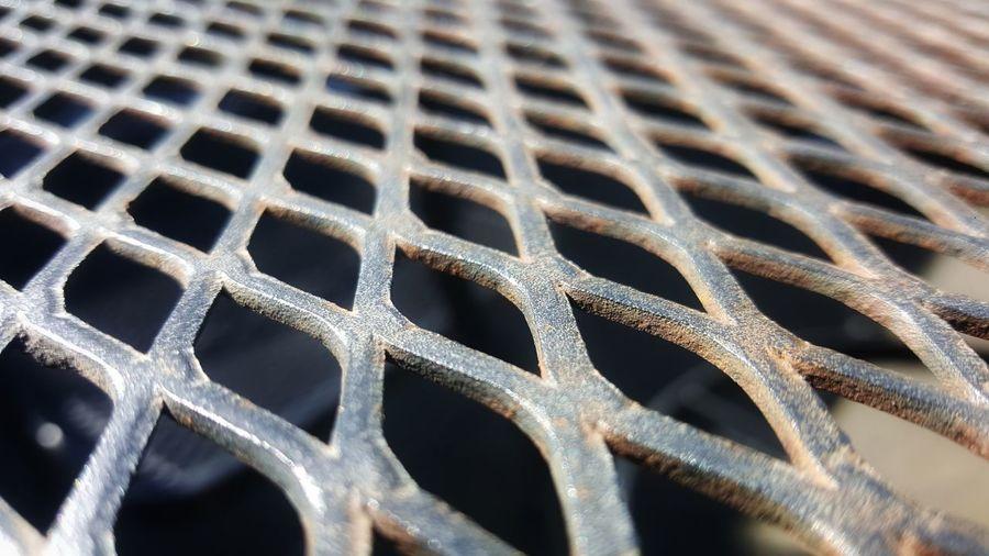 Detail shot of metal grate
