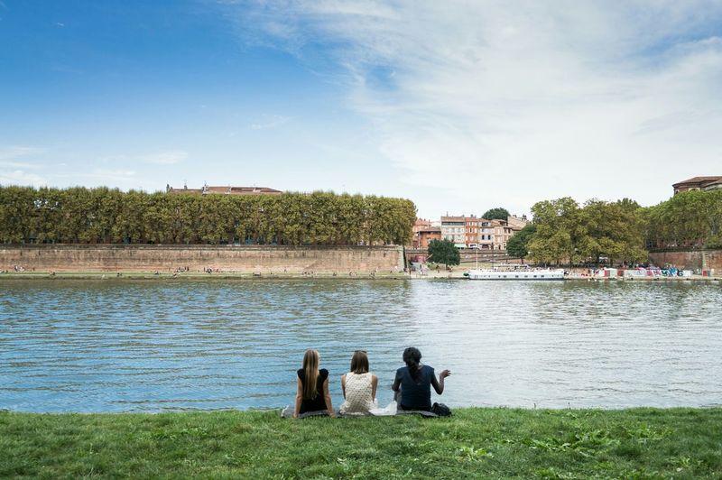 Garonne Chilling Blue Sky Green Symmetry EyeEm Best Shots