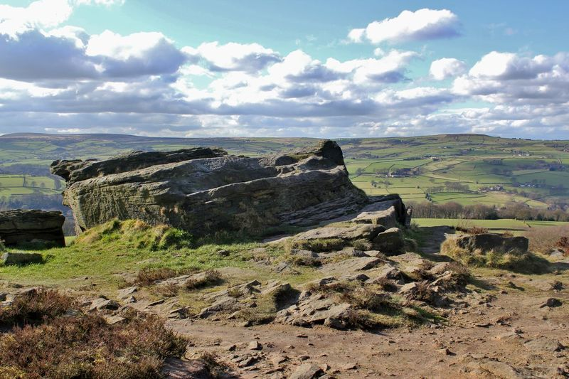 Ladstone Rock on Norland Moor, West Yorkshire Beauty In Nature Cloud - Sky Countryside Day England Grass Hebden Bridge Ladstone Rock Landscape Landscape_Collection Moored Moorland Moors Nature No People OpenEdit Outdoors Scenic Scenics Sky Tranquil Scene Tranquility United Kingdom West Yorkshire Wildlife First Eyeem Photo