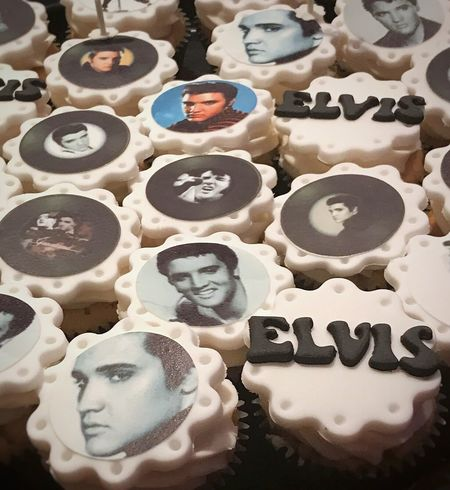 Gary's Elvis-themed Birthday cupcakes... Birthday Celebrations Elvis Presley Elvis❤ Birthdaycupcakes Birthdayboy Cupcakes Foodblogger Foodblog Cupcake Photography