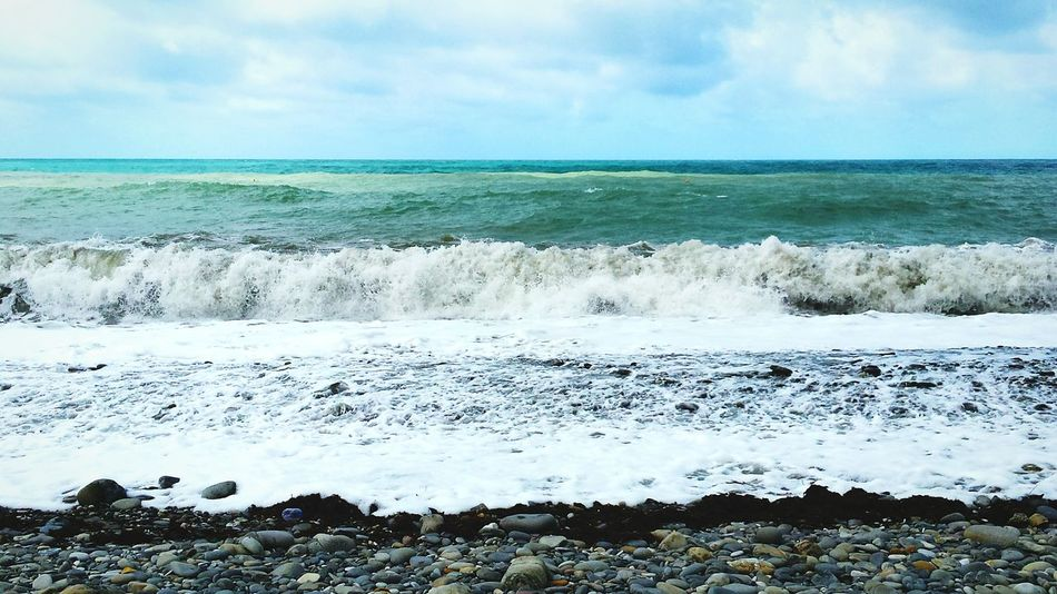 Sea Sea And Sky Seaside Seascape Sea View Seabeach Beach Beach Day Day Waves Wave Seawater Ocean DaylightFirst Eyeem Photo Ocean View Seawaves OceanWaves Oceanwater Rocks Rock Stonebeach Stone Stones & Water Stones