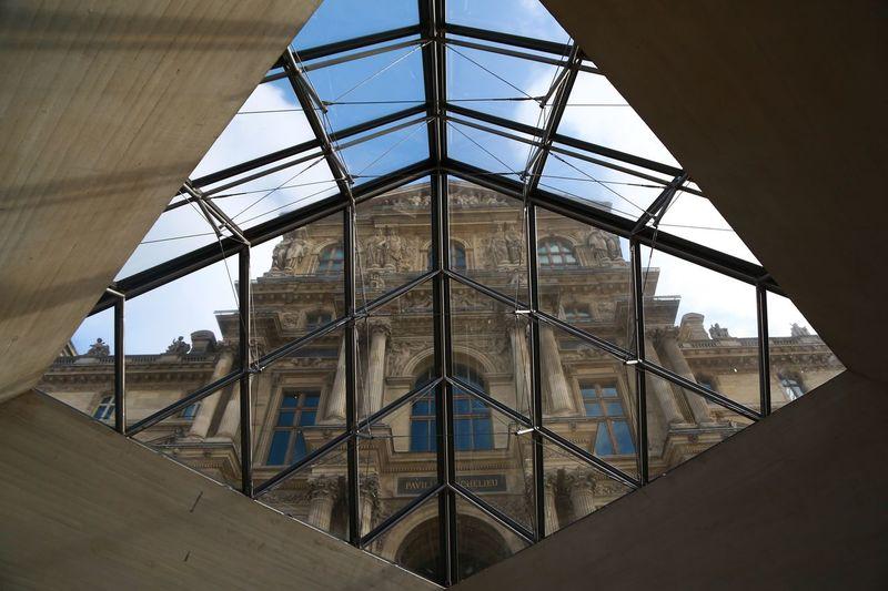 Musée du Louvre Musée Du Louvre Architecture Built Structure Sky No People Metal Low Angle View Day