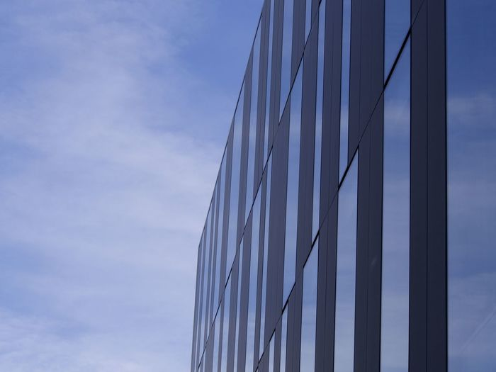Architectural Feature Architecture Architecture_collection Architecturelovers Blue Building Exterior Built Structure City Cloud - Sky Façade Low Angle View Minimal Minimalism Minimalist Architecture Minimalobsession Modern No People Office Block Reflection Wall - Building Feature