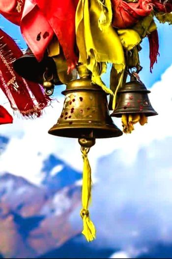 Envision The Future Future Peace Calm Highest Village In The World Religion Bell Pray Pray Bell Snow ❄ Mountain Mountain Temple Inner Peace The Road Less Traveled