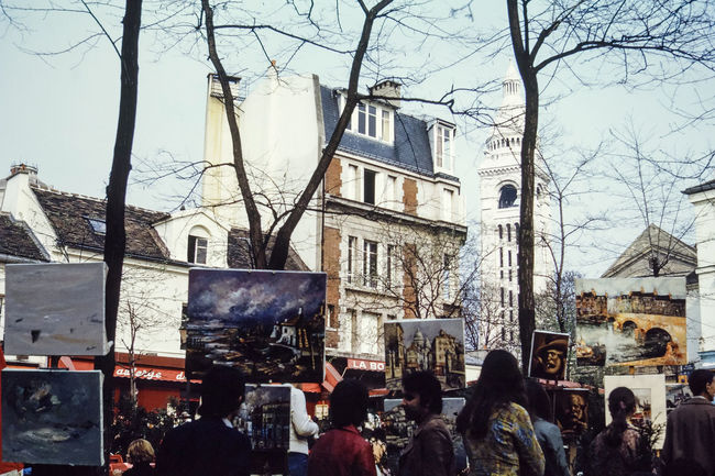 Vintage view of Paris in the seventies 1970 1970s 1974 Film France French Paris Retro Retro Style Slide Vintage Vintage Cars