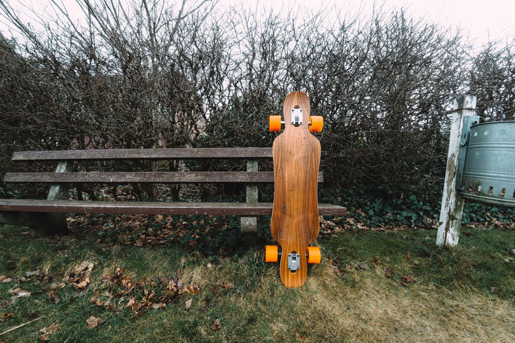 Short Trip Gopro Bench Sitting Skateboarding Vacations Autumn Beauty In Nature Break Day Grass Nature No People Outdoors Park - Man Made Space Pause Skateboard Skating Sky Tree Yellow