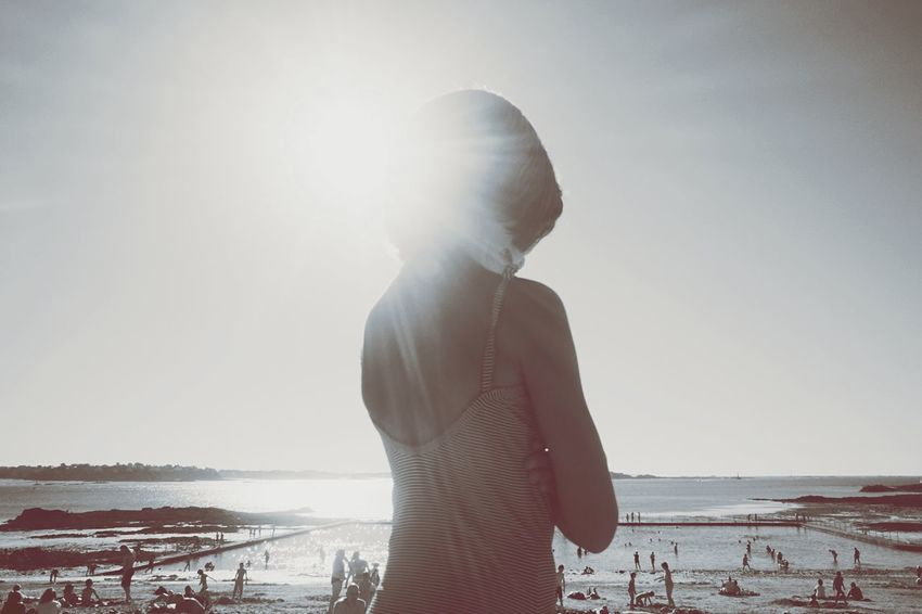 Light ! Rear View Standing Beach Water Lifestyles Sea Three Quarter Length Leisure Activity Men Shore In Front Of Vacations Person Lens Flare Scenics Casual Clothing Sky Sunbeam Tranquil Scene Solitude Beauty In Nature AMPt - Shoot Or Die