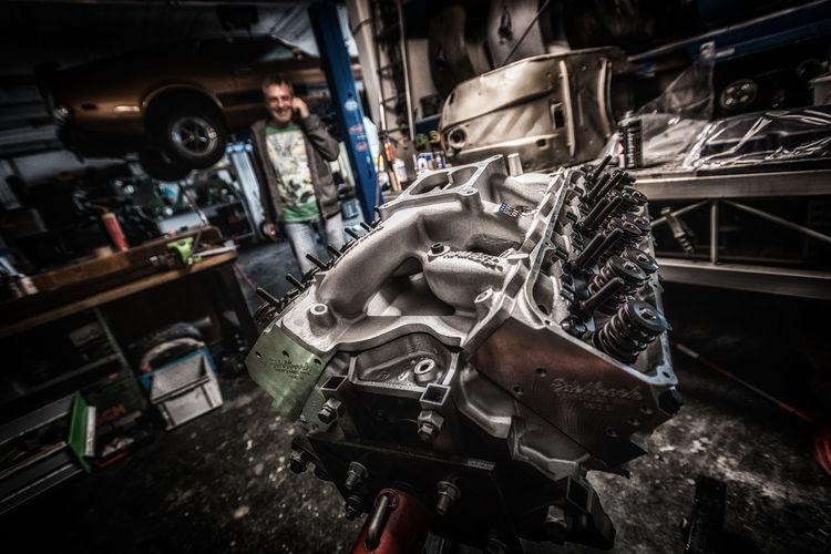 393 Stroker. V8 Engine Tuning Edelbrock Garage Mustang Motor 351C Car Vintage Car Engineering