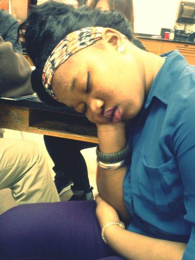 niggas falling asleep in class
