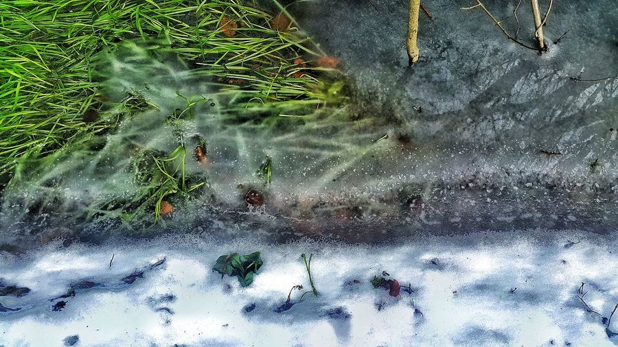 Frozen river Stream Winter Snow Water Backgrounds Puddle Full Frame Reflection Close-up Snow Covered Frozen Cold Frost Glacial Weather Condition Frozen Lake