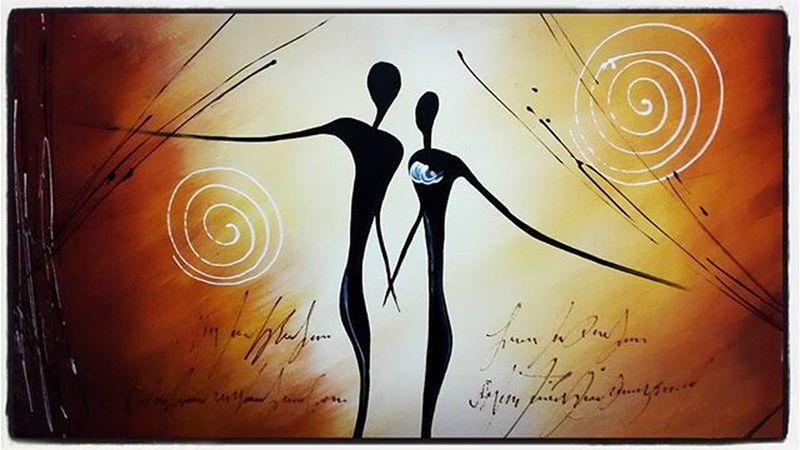 """""""A+B=C"""" todos necesitamos esa persona a nuestro lado que nos complemente y acompañe En nuestra evolución durante la vida. Bien sea Amante, Novia o Esposa, igual a la inversa y dentro de sus variedades. Comparto mi nueva adquisición de este 2016 a la cabeza de mi Cama evocando Lo que será...🙏👫Spiritual Knowledge Couple Renovación Energía Soulmate Single Wish 2016 Conciousness  Soul Being Art Unknownartist Venezuela"""
