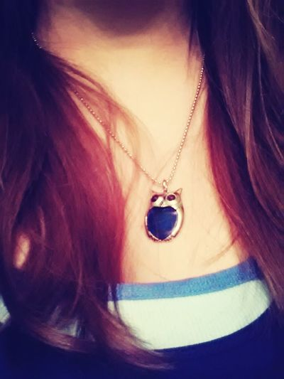 owl necklace!