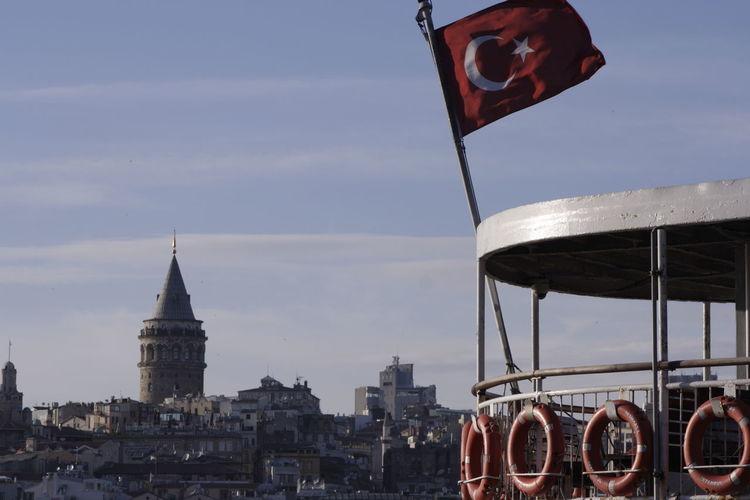 Original Galata Tower Turkish Flag EyeEm Best Shots myshot