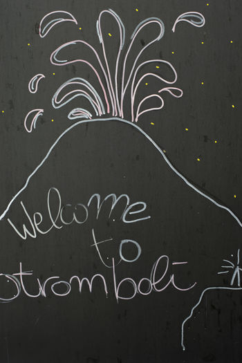 "Chalk on the black board ""Welcome to Stromboli"" Stromboli Stromboli Volcano Stromboli Island Eruption🗻 фке Chalkboard Chalk Lipari Island Lipari, Landscape Information Board Art And Craft Indoors  Communication Backgrounds Creativity Text Volcano Volcanic Landscape"