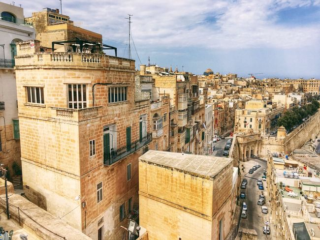 Building Exterior Architecture Sky Built Structure Residential Building City No People Outdoors Cloud - Sky Day Cityscape Malta View Summer Summertime
