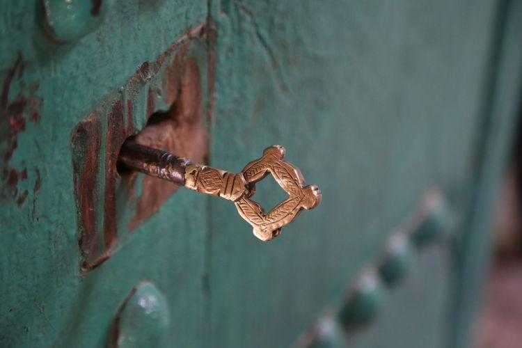 Close-up of metallic key