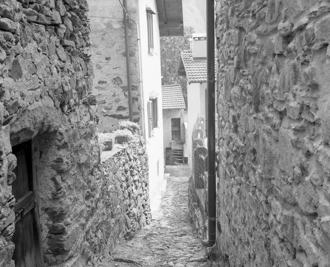Narrow alley amidst buildings