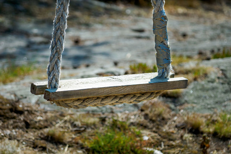 Close-up of swing