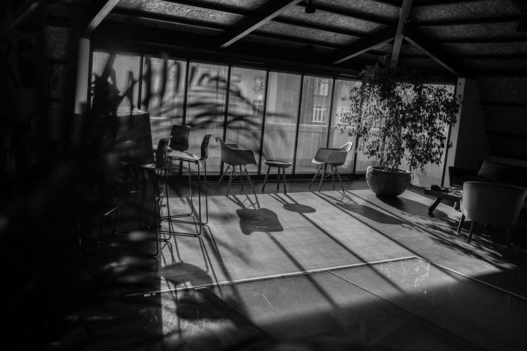 Seat Chair Indoors  Flooring Day Table Absence Window Empty Restaurant No People Nature Cafe Reflection Architecture Business Tiled Floor Sunlight Setting Cafeteria Blackandwhite Istanbul Retro Retro Styled My Best Photo