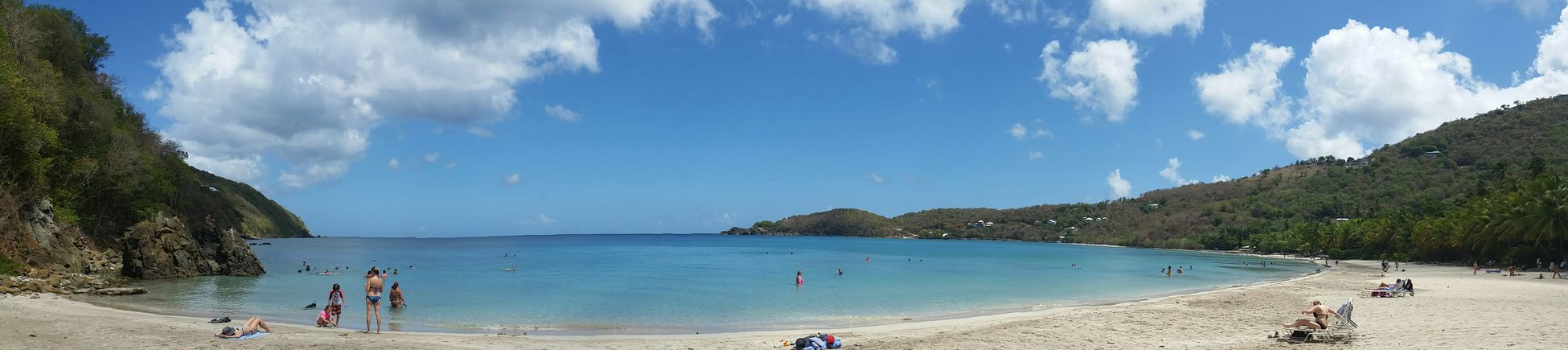 Megansbaybeach Stthomas Beach Panorama