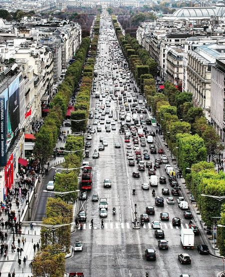 Paris Champselysées ChampsElyseesParis High Angle View Road Street Day Outdoors No People Nature