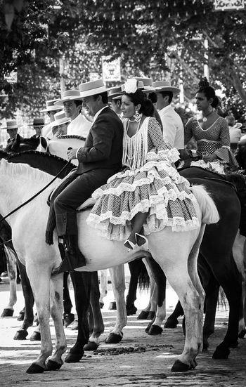 Feria de Abril de Sevilla. Andalucía. Blackandwite Blancoynegro Fotocallejera Monochrome Sevilla Seville Feria De Abril Andalucía Andalusia