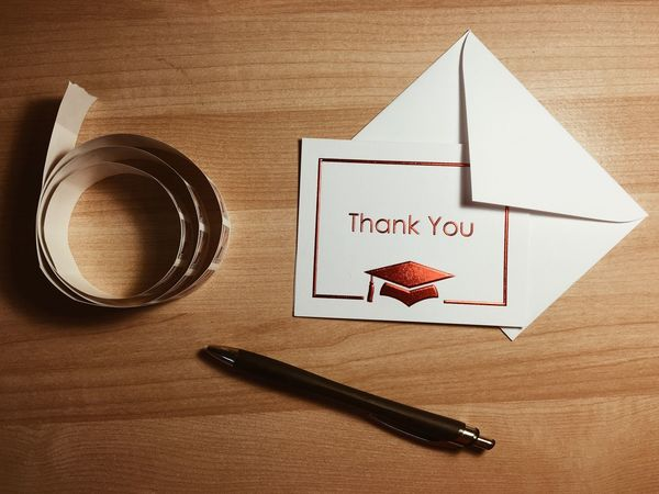 Writing thank you notes after a graduation open house. Thankyou Notes Writing Mail Minimalism Simple Pen Paper Stamps Graduation IPhoneography