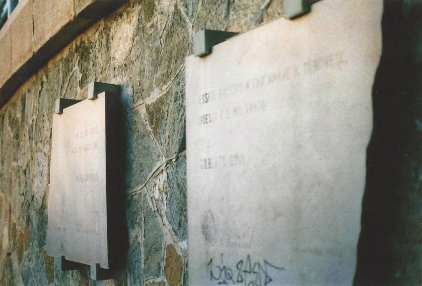 Text Day Close-up Plate Marble Stone Wall Expired Film Words Expired Film