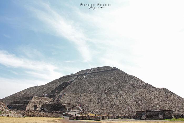 Cloud - Sky Sky Arqueology Teotihuacan Piramid Pirámides De Teotihuacan Piramide Del Sol Mexico
