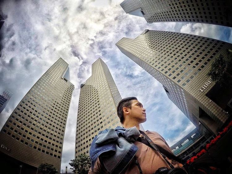 Me in Singapore Cloud - Sky One Person Outdoors Singapore Building Young Adult First Eyeem Photo