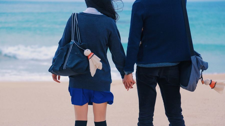 Two Is Better Than One Taiwan Selfie Travel Sea Couple Blue Young Love Student Lovers